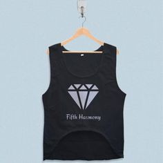 Women's Crop Tank - Fifth Harmony Diamond Logo Crop Tank, Tank Tops, Diamond Logo, Summer Design, Fifth Harmony, Logo Design, Skinny Jeans, Fit, Style