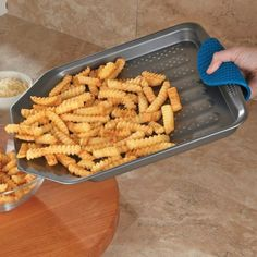 Chefs Nonstick French Fry Baking Sheet 15 Inch, Gray >>> New offers awaiting you : Baking necessities Cool Kitchen Gadgets, Kitchen Items, Kitchen Hacks, Kitchen Tools, Cool Gadgets, Cool Kitchens, Kitchen Stuff, Unique Gadgets, Awesome Kitchen
