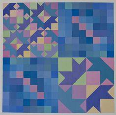 Tavola con composizione di pentamini e moduli a base quadrata.