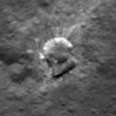 Interesting squarish crater on Ceres with more bright stuff.