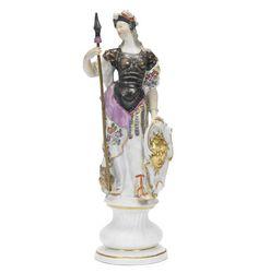 A Meissen figure of Minerva, mid-18th century