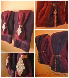 Bathroom Towel Decor Ideas. Diy Chandelier Embellishments Decorating Towels With Embellishments