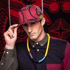 cewax.fr aime cette casquette en tissu africain wax style ethnique afro tendance tribale african print ankara rose Niassa Fitted Cap