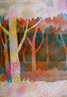 The Painted Prism: WATERCOLOR WORKSHOP: Negative Painting Trees