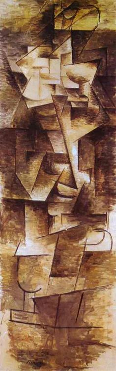 """Nude Woman"". 1910 -    Oil on canvas- Picasso (cubism)"