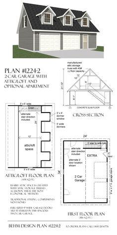 garage with loft | ... -0124 - Garage Plans and Garage Blue Prints ...