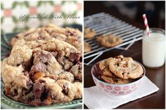 Chunky Twix Cookies Before & After by Amber (Sprinkled With Flour) -- great analysis on each picture and how to fix things.