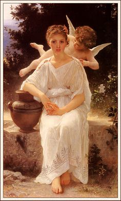 Adolphe-William-Bouguereau 'Whisperings of Love', 1889 in the New Orleans Museum of Art  ( check on Cummer Museum of Art and Gardens). http://noma.org/collection/detail/69#Italian%20Collection