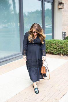 Midi Dress Two Ways - Black Midi Dress Two Ways by North Carolina fashion blogger Coffee Beans and Bobby Pins