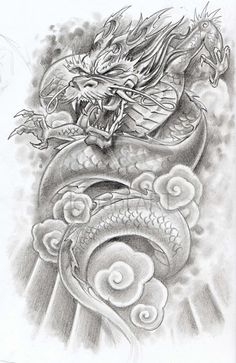 tattoo art designs | tattoo dragon by rmflocco Japanese Dragon Tattoos