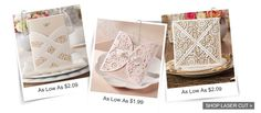 Yourweddingwill no doubt be the mostromanticday of your lives, so all you need is a romantic laser cut lace wedding invite like this!    Invitation Card Dimensions: 5.90 x 5.90 in (w x h)   Response Card Dimension...