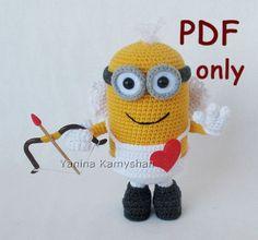 Valentine Minion, amigurumi crochet pattern