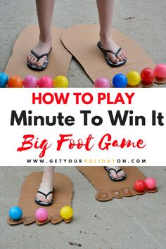 Minute To Win It Big Foot Game #minutetowinit #diycrafts #momlife #Party