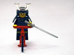 Lego samurai  #LEGO Lego lego on a bike with a sword