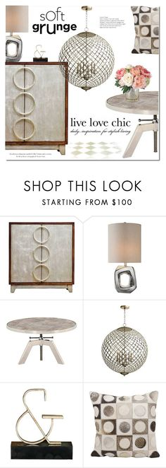 """""""Live Love Chic"""" by ansev ❤ liked on Polyvore featuring interior, interiors, interior design, home, home decor, interior decorating, Uttermost, Cyan Design and Nourison"""