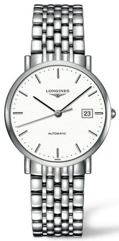 Longines Watch Elegant #bezel-fixed #bracelet-strap-steel #brand-longines #case-material-steel #case-width-37mm #date-yes #delivery-timescale-4-7-days #dial-colour-white #gender-mens #luxury #movement-automatic #official-stockist-for-longines-watches #packaging-longines-watch-packaging #style-dress #subcat-elegant #supplier-model-no-l4-810-4-12-6 #warranty-longines-official-2-year-guarantee #water-resistant-30m