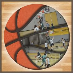 Digital Scrapbook Template Basketball Scrapbook - THIS would be a really wicked and unique idea for our metal Bball!