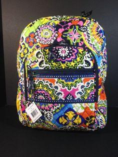 NEW VERA BRADLEY RIO Campus Backpack Book school bag Retail $109 #verabradley #Backpack