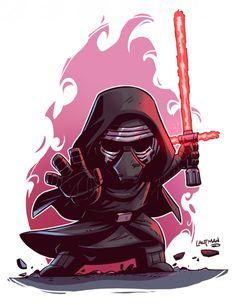 Star Wars Le Réveil De La Force : Dessiner Kylo Ren Rey Finn et Poe Dameron en chibi