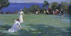 The Athenaeum - The Croquet Party (Sir John Lavery, R.A. - 1890)