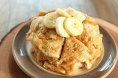 Banana Bread Pancakes for One by Healthy Food For Living