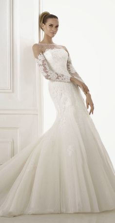 Pronovias Glamour 2015 Bridal Collection | bellethemagazine.com