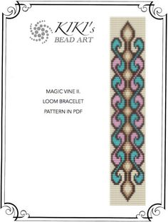 Bead loom pattern - Magic vine swirly LOOM bracelet pattern in PDF - instant download