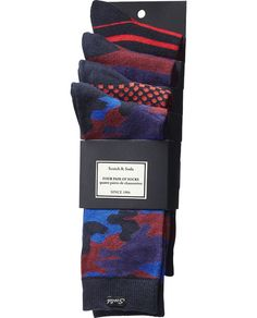 4 pack Socks - Scotch