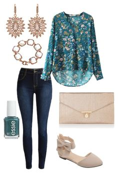 """Untitled #363"" by kmysoccer on Polyvore featuring Carolee, Essie, Blu Bijoux and Accessorize"