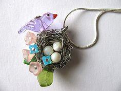 Birds nest beaded jewelry