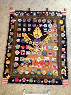 Boy Scout patch blanket #1