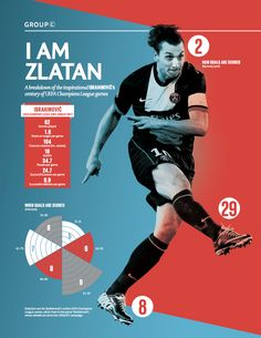 This athlete infographic is more simple than the others, maybe if the athlete had less stats than most.