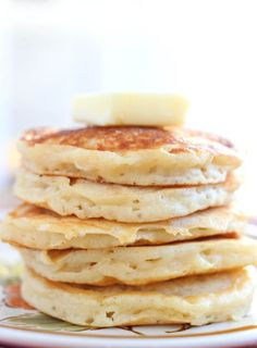 Greek yogurt pancakes are delicious, easy to make, and full of healthy protein to make you feel good about breakfast. Greek yogurt pancakes are super filling.  We made them in silver dollar pancake size so we wouldn't overindulge and also because they're the perfect size for kid fingers and for dipping!