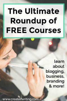 The Ultimate List of Free Courses -- Embrace your inner nerd with this list of 30+ free courses on everything from social media and blogging to business and editing images in Canva.
