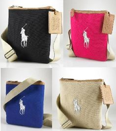 49c0dfef77cb NWT Polo Ralph Lauren Women Handbag Shoulder Cross Body 4 Colors