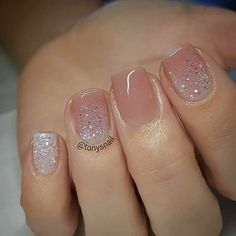 So pretty! Sparkles and neutral pink
