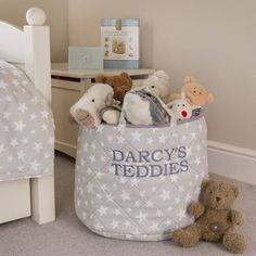star design toy storage basket range by kiddiewinkles | notonthehighstreet.com & 15 best Childrenu0027s Toy Storage Baskets (can be personalised) images ...