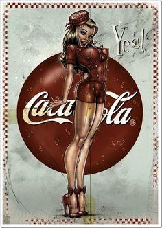 Vintage Coca-Cola Girl