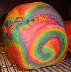 Soft Rainbow Sandwich Bread. This would be awesome for kids lunches!