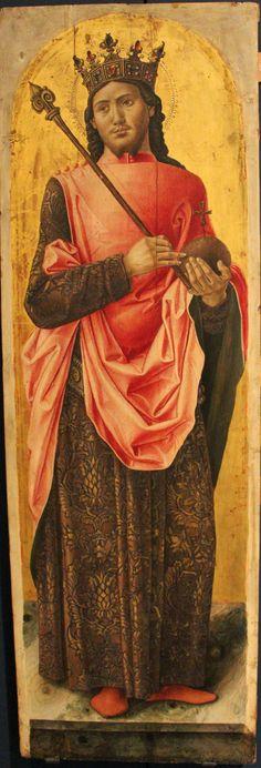 Bartolomeo Vivarini - Polittico di Sant' Ambrogio: San Luigi di Francia (pannello del) - 1477 - Gallerie dell'Accademia, Venezia