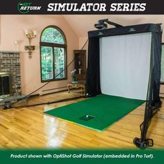 At Home / In House / Residential | Indoor Golf Simulator | Virtual ...