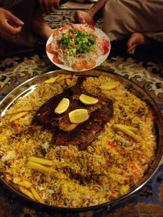 Omani food: qabooli  can't wait to try some of their traditional dishes