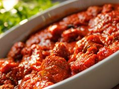 Roasted Italian Meatballs************************** INA'S recipe also called for a cup of water for a full recipe and a 1/2 cup for half a recipe.