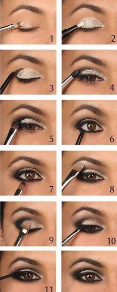 Easy step by step smokey eye tutorial for beginners