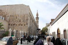Buitenkant van de Omajjadenmoskee in Damascus. Foto: Marco in 't Veldt