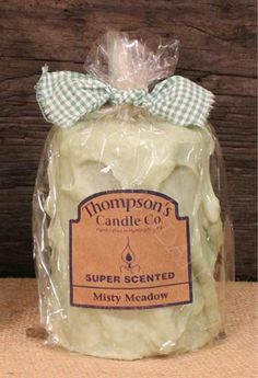 Prim Country Misty Meadow Medium Pillar, Handmade in the USA, Super Scented #CountryCandles #Primitives