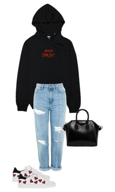 """Untitled #169"" by zivapersonalshopping ❤ liked on Polyvore featuring Topshop, Steffen Schraut and Givenchy"