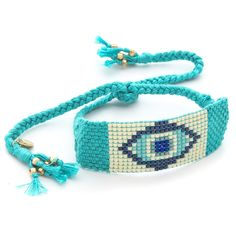 Chan Luu Tribal Beaded Bracelet - New Turquoise (270 VEF) ❤ liked on Polyvore
