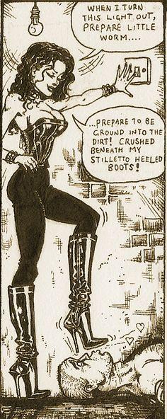 Female Supremacy, Dominatrix, Powerful Women, Mistress, Worship, Strong, Relationship, Cartoon, Comics