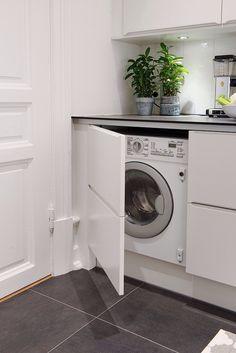 How to hide the washing machine //Smarta lösning för att allt ska få plats!